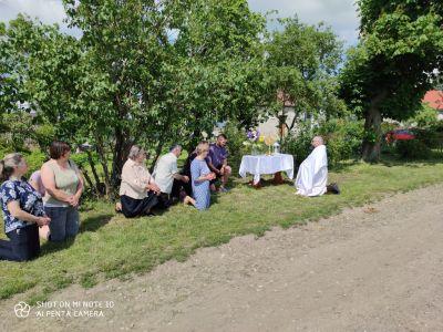 Objazd parafii z Najświętszym Sakramentem - Boże Ciało 2020 r.